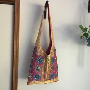 Handbags - Quilted Bedouin Bag Egyptian Sequins Boho Bohemian
